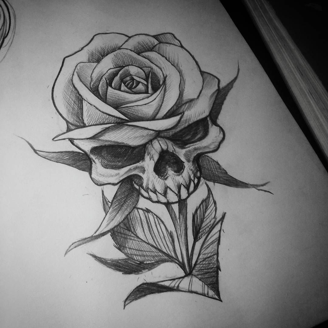 Pin By Raidel Vega On Gusto Personal Rose Drawing Tattoo Sketch Tattoo Design Skull Rose Tattoos