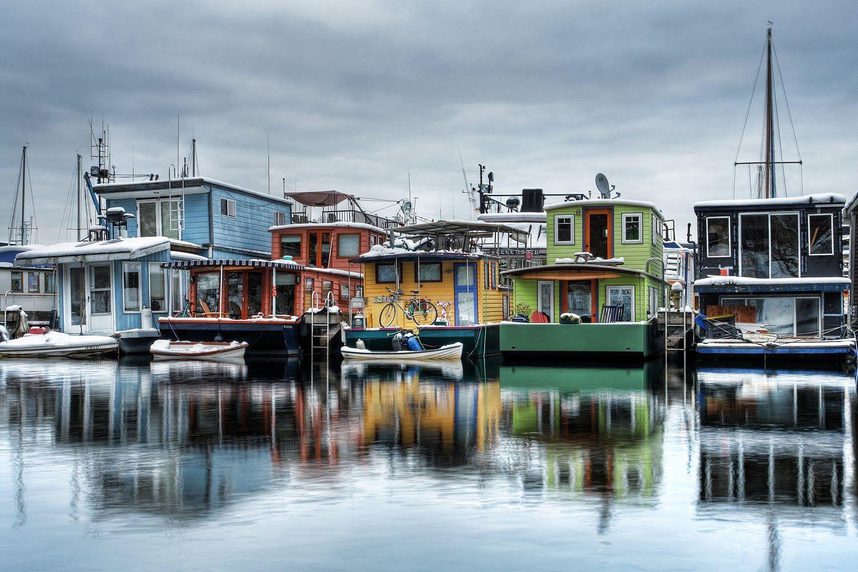 Houseboats On Westlake Seattle Wa House Boat Lake Union