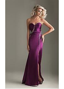 Elegant Charmeuse Sheath Sweetheart Prom Dress In Fashion Design