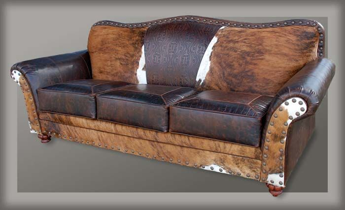 Upholstered In Distressed Buffalo Leather And Brazilian Hair On Hide.  Buffalo Is Thicker Than Cowhide
