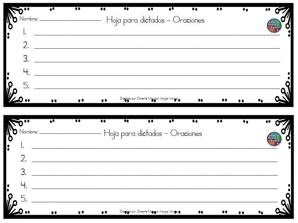 Plantillas de dictados (25)
