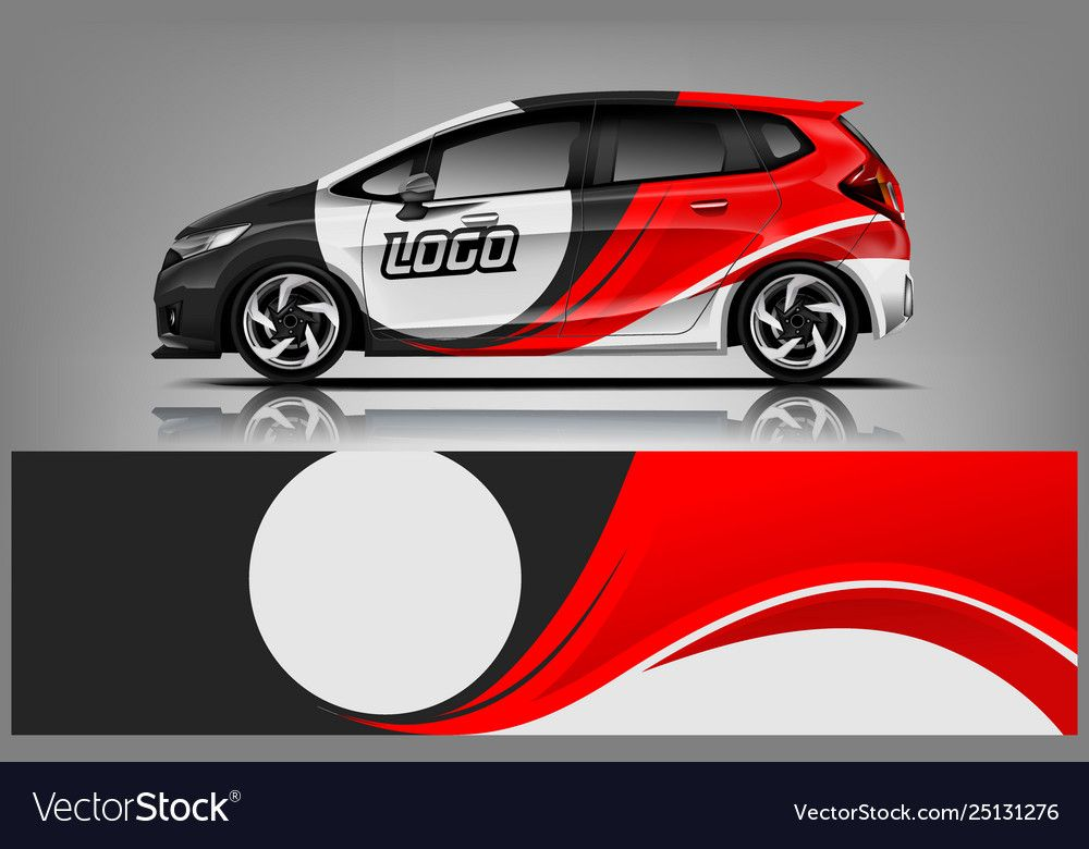 Car Decal Wrap Design For Company Royalty Free Vector Image Spon Wrap Design Car Decal Ad In 2020 Car Wrap Car Wrap Design Car