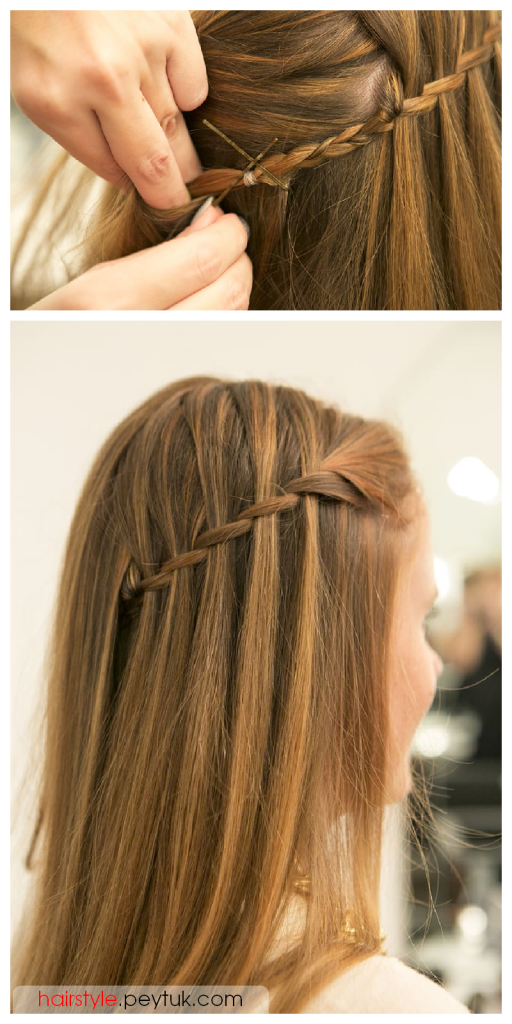 Mastering A Waterfall Braid Is So Easy With This Tutorial Find Your New Style Braided School Easy Easy Hairstyles For Long Hair Hair Styles Waterfall Braid