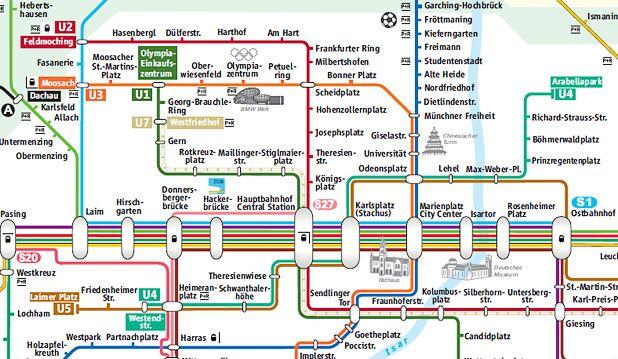 transportation map munich MunichBerlin Pinterest Munich