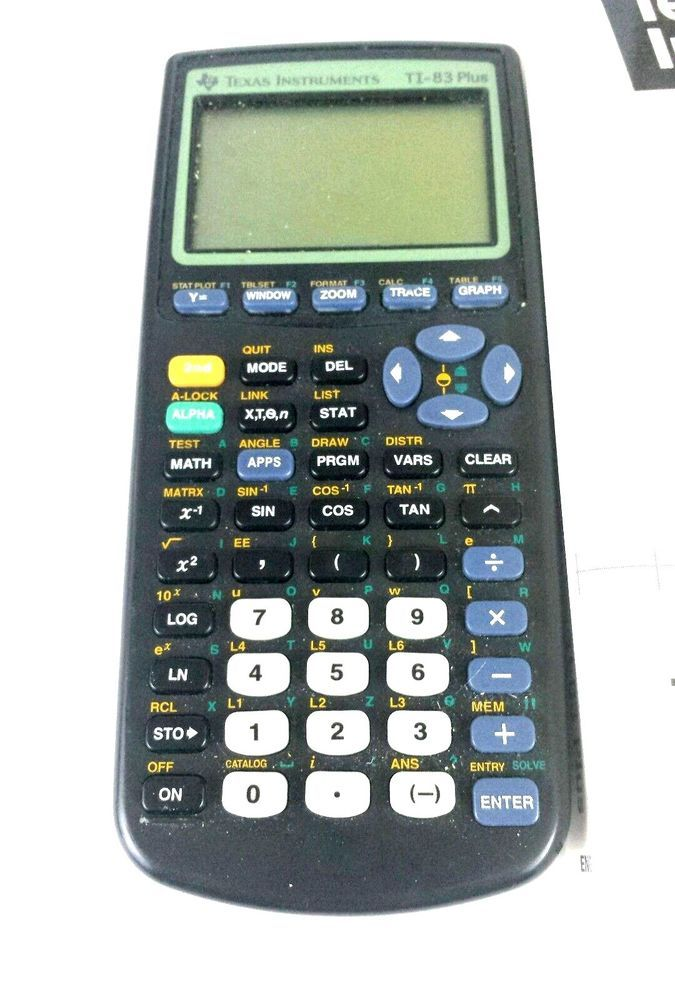 Details About Texas Instruments Ti 83 Plus Graphing Calculator