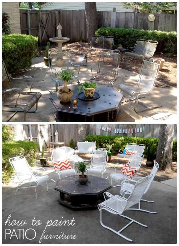 Crusty and rusty {How to paint patio furniture Painting