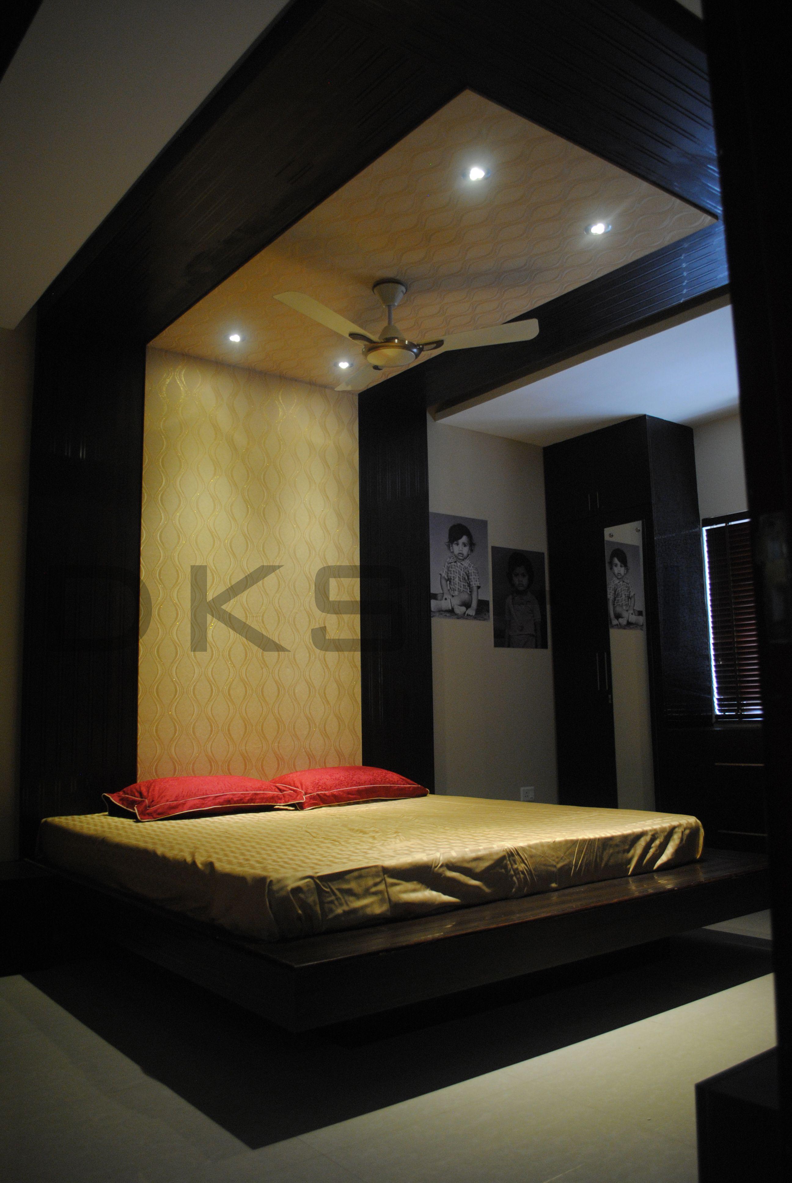 Floating cot   Master bedroom. Floating cot   Master bedroom   Residential Interior designs   Mr
