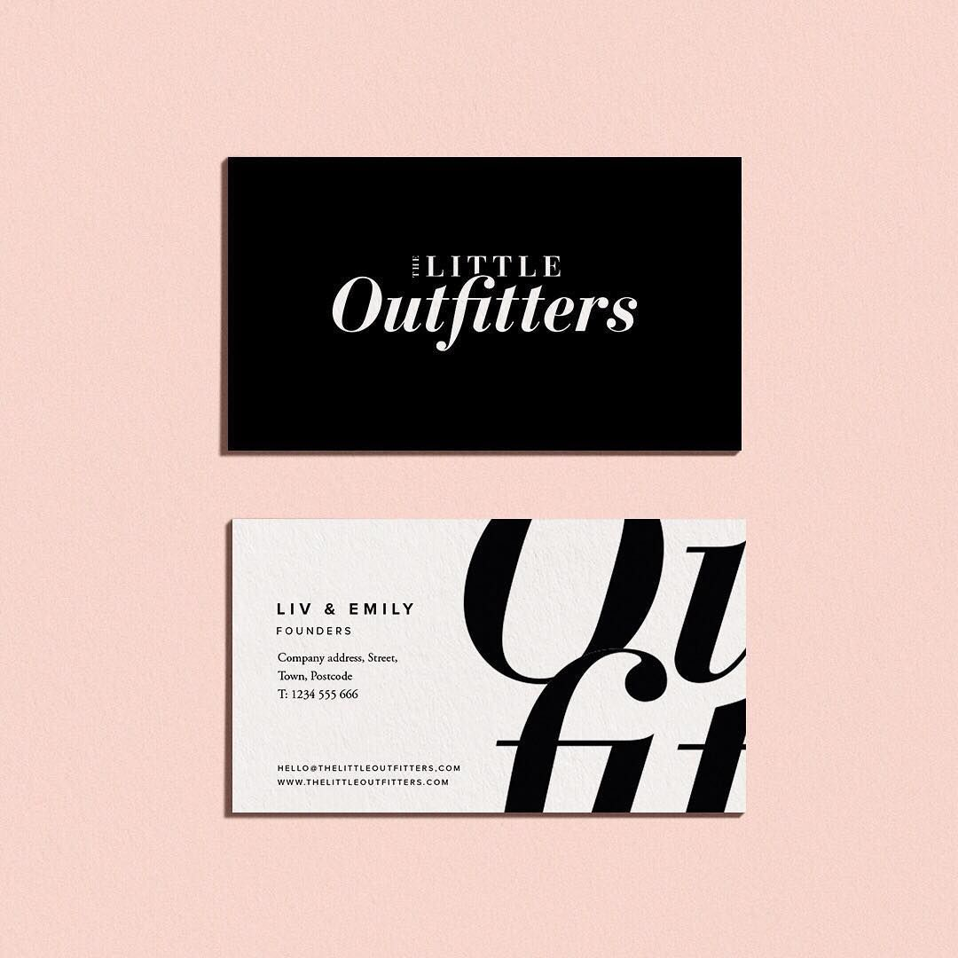 Logo And Business Card Design For The Little Outfitters Logodesign Business Card Design Creative Graphic Design Business Card Business Card Design Fashion