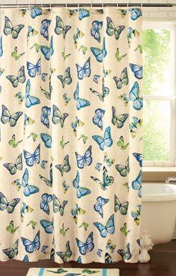 Spring Butterflies Bathroom Shower Curtain Butterfly Shower