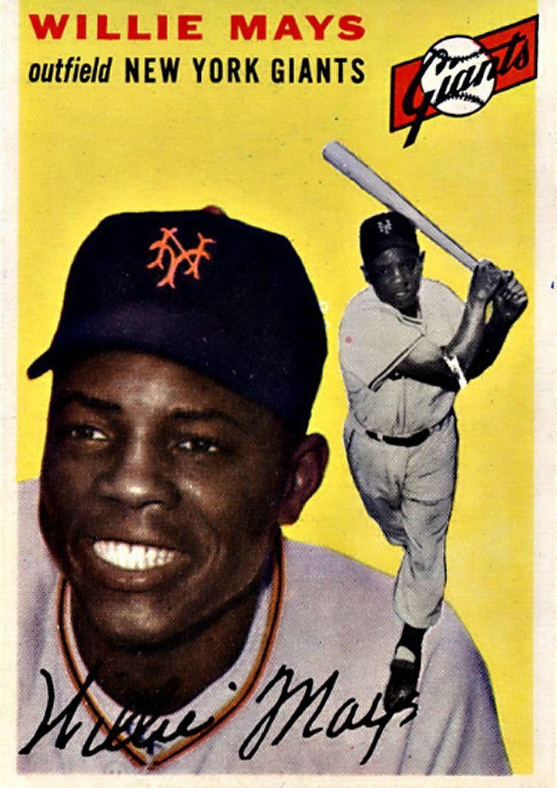 90 Willie Mays New York Giants Baseball Cards Baseball Trading Cards Old Baseball Cards