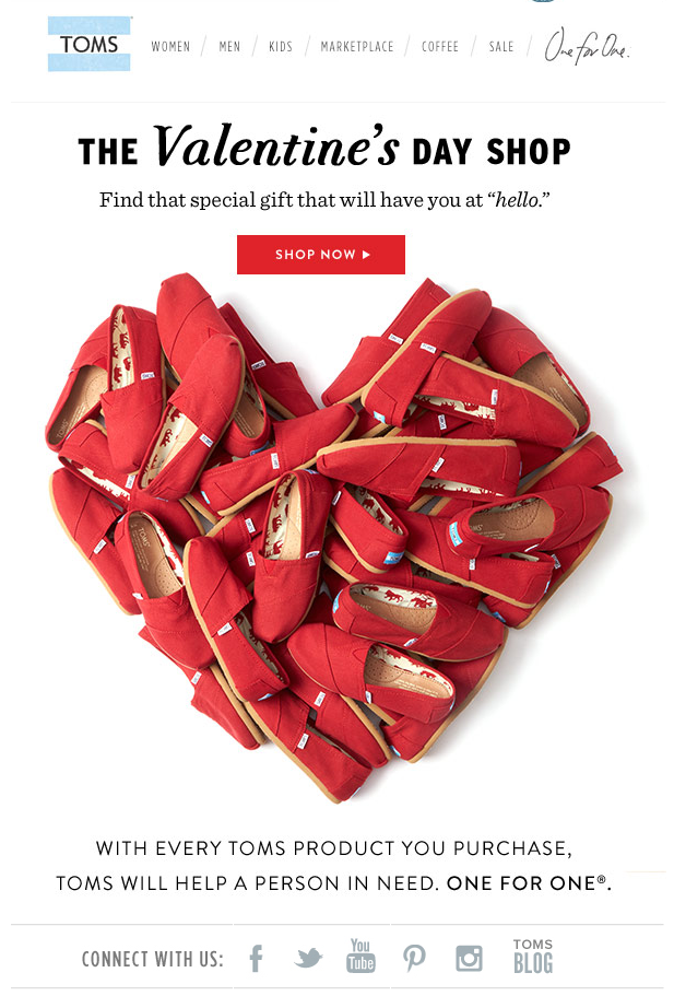 Toms Valentine S Day Email Subject Line Your Guide To The Best