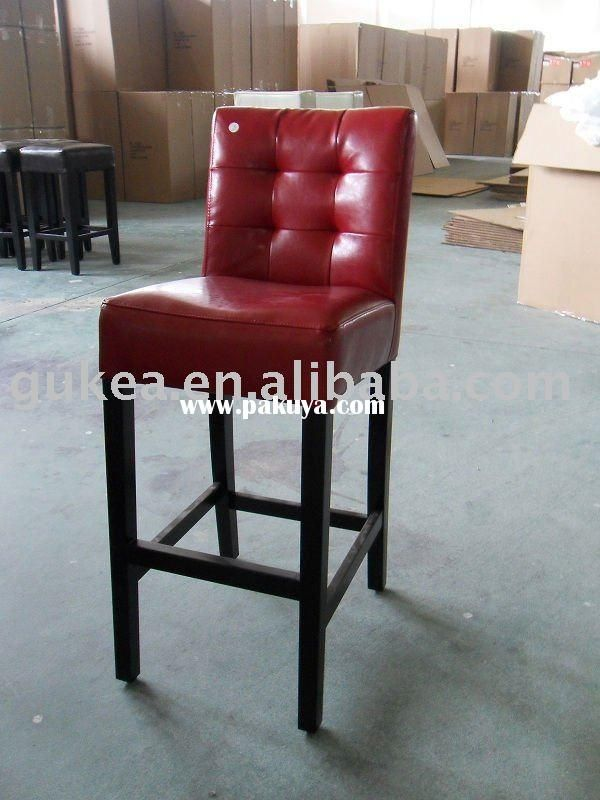 Bs1080 Red Leather Bar Stool With Tufted Design Restaurant Materials Pinterest Stools And Products