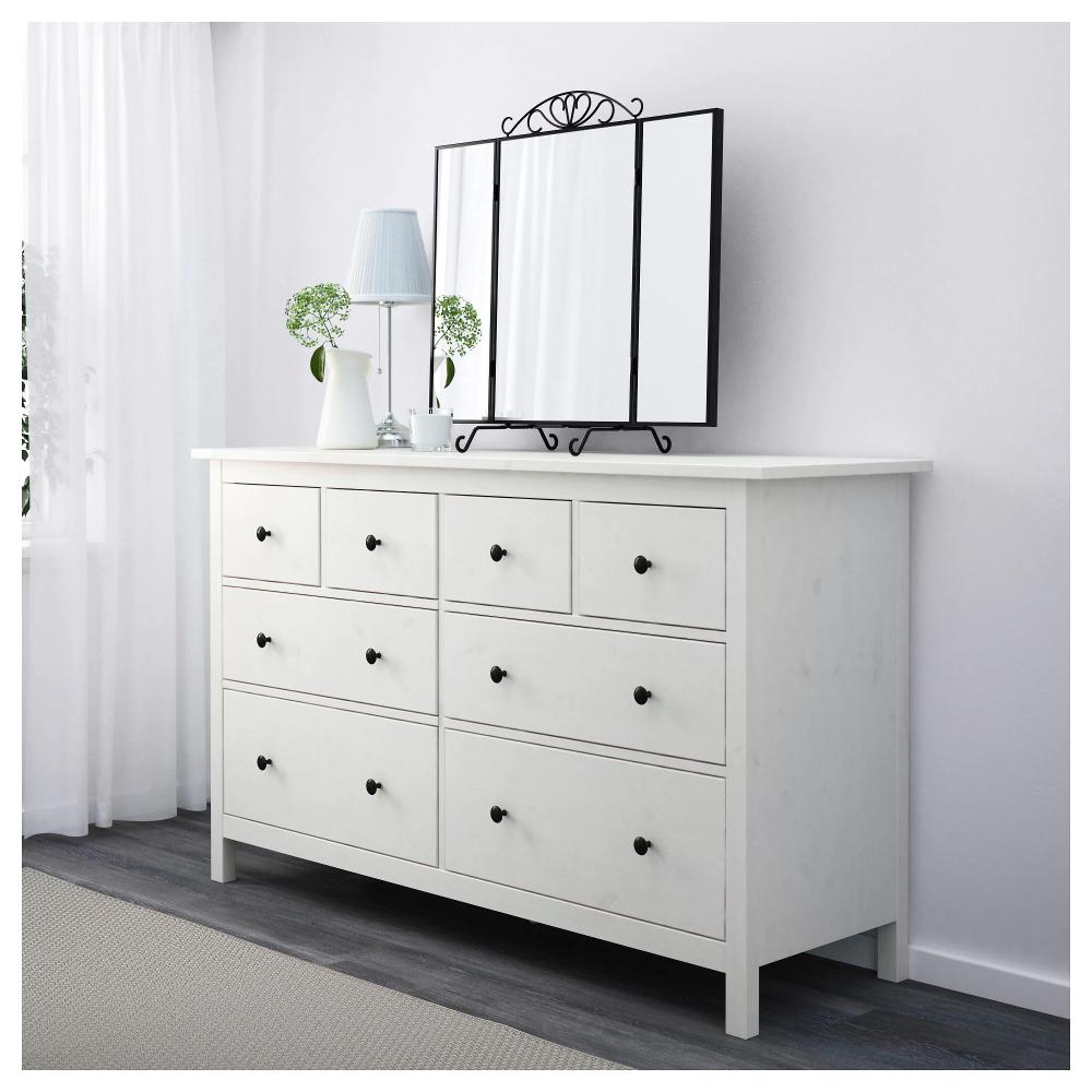 Hemnes 8 Drawer Dresser Dark Gray Gray Stained 63x37 3 8 8