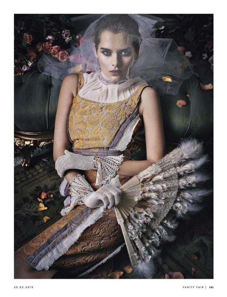 Solveig Mørk Hansen by Kelly Klein for Vanity Fair Italia 25th February 2015 prada