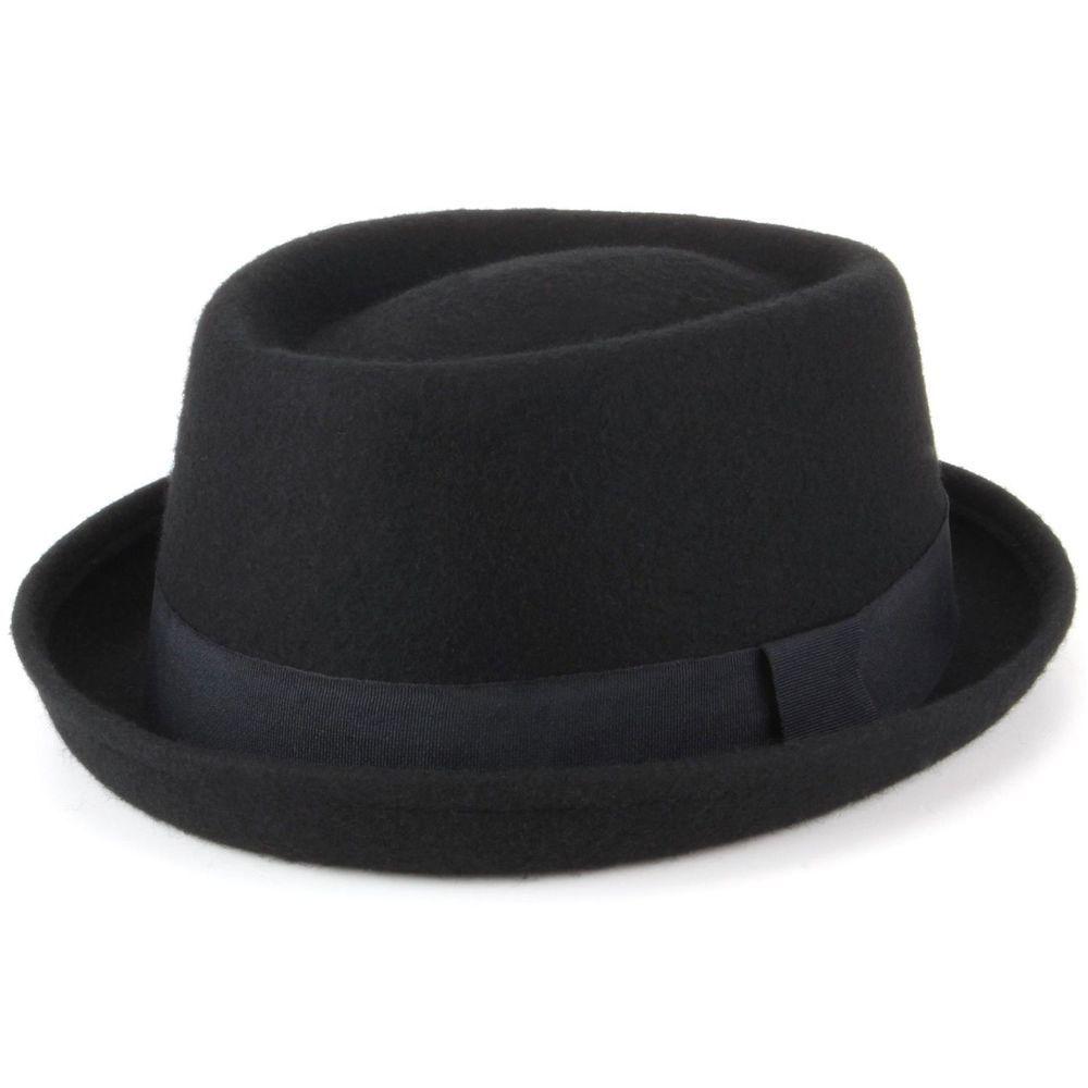 New Unisex Pork Pie Hat Black Vintage Faux Leather Breaking Bad Heisenberg Style