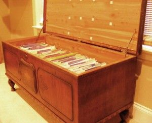 Superb Such A Good Idea Turn A Hope Chest Into A Filing Cabinet Beutiful Home Inspiration Aditmahrainfo
