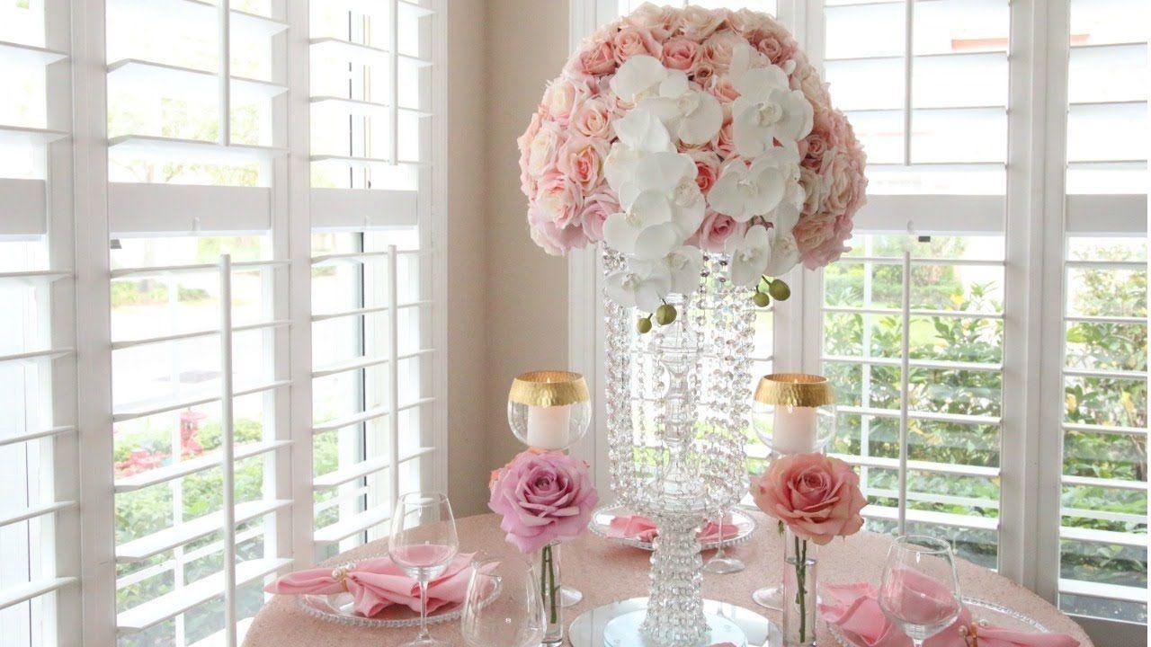 Diy dollar tree crystal garland chandelier wedding