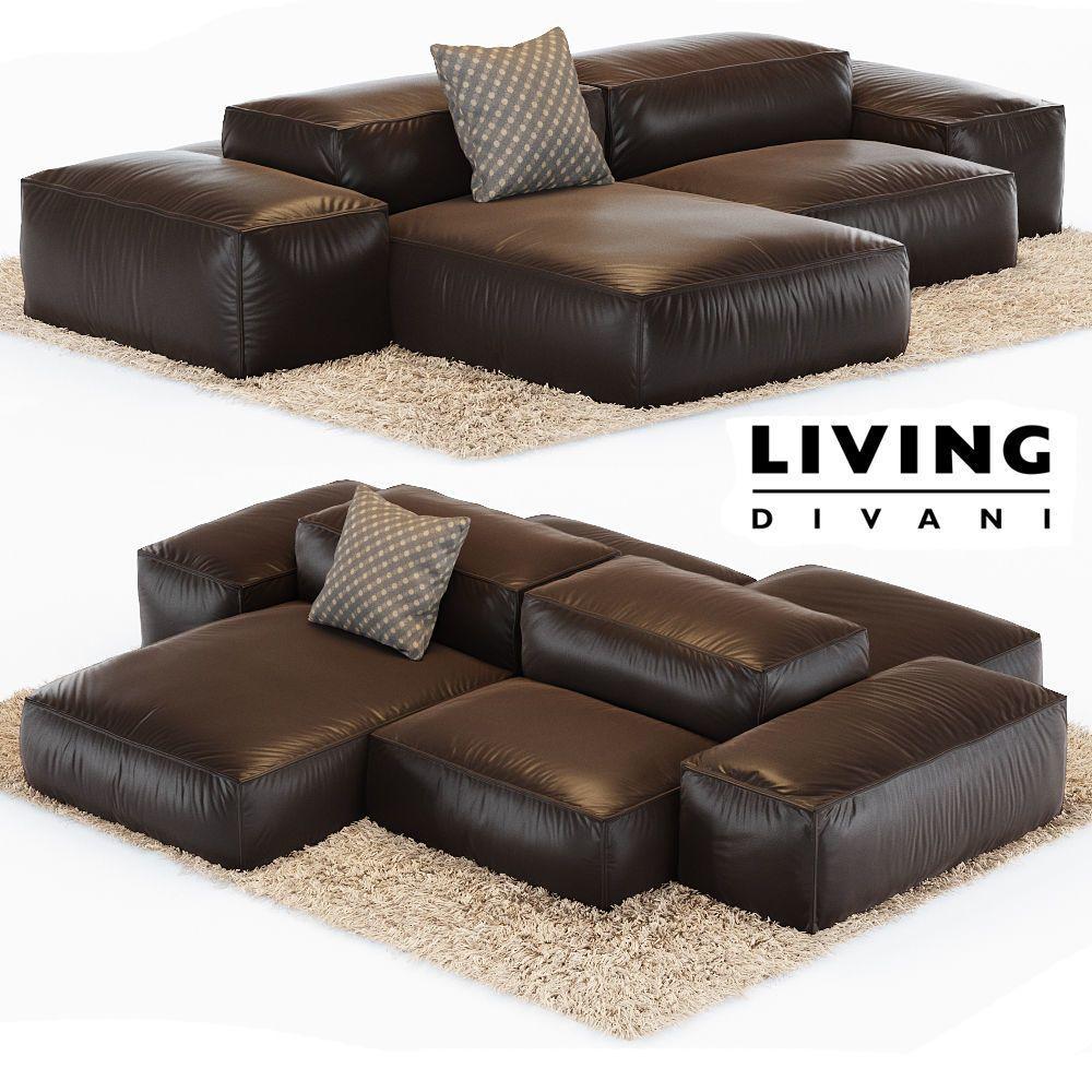 Sofa Extrasoft 3D model in 2020 Textured carpet, Sofa
