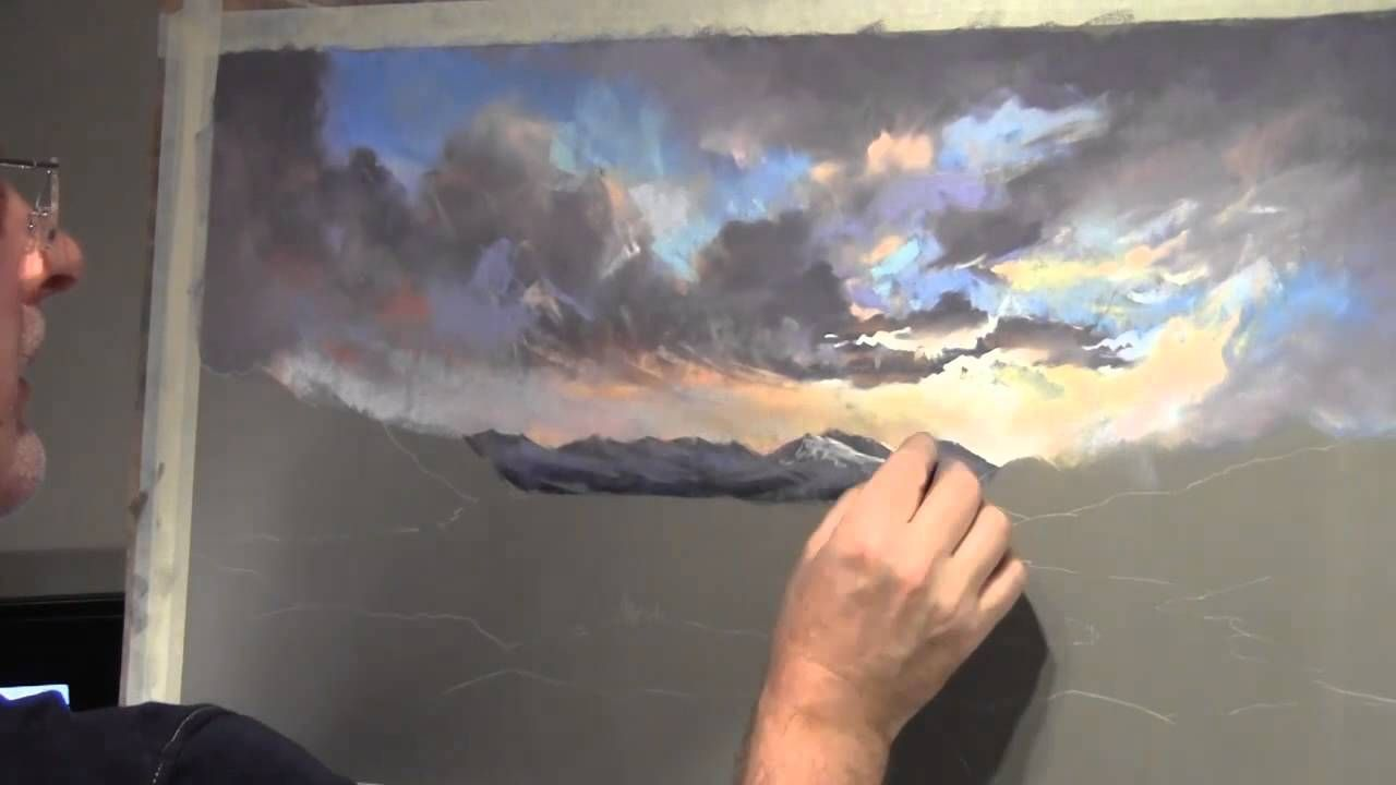 Painting Clouds In Pastel Cloud Painting Pastel Painting Soft Pastel Art