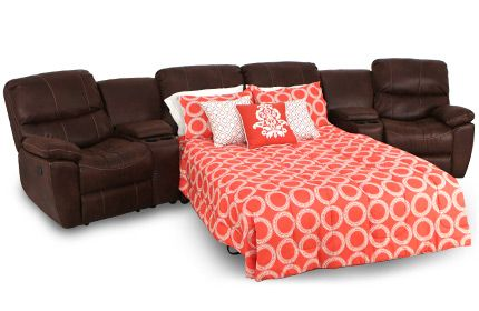 Seatcraft Bismarck Home Theater Seating Sleeper Sofa