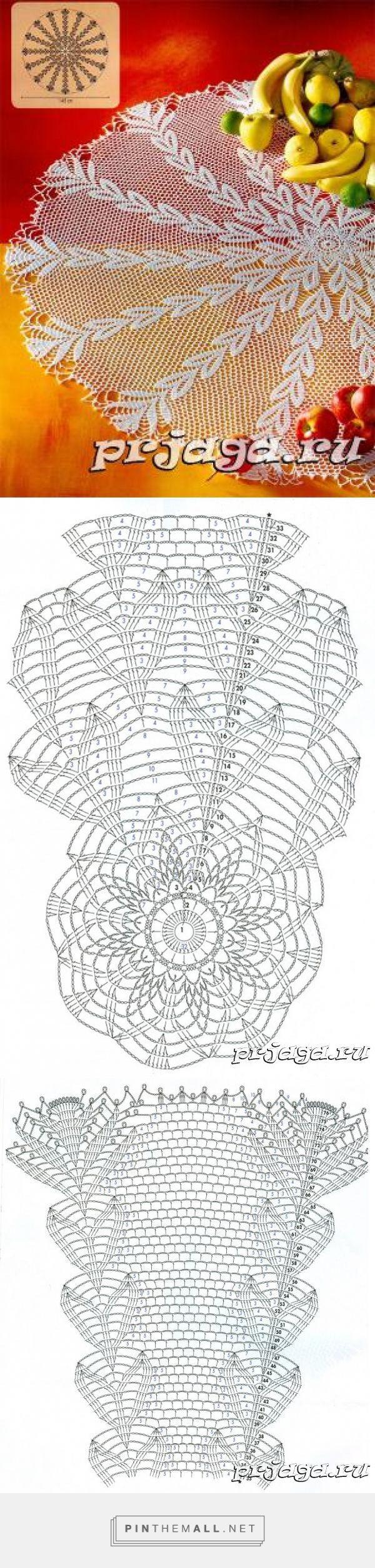 Большая салфетка крючком, с сердечками - created via http ...