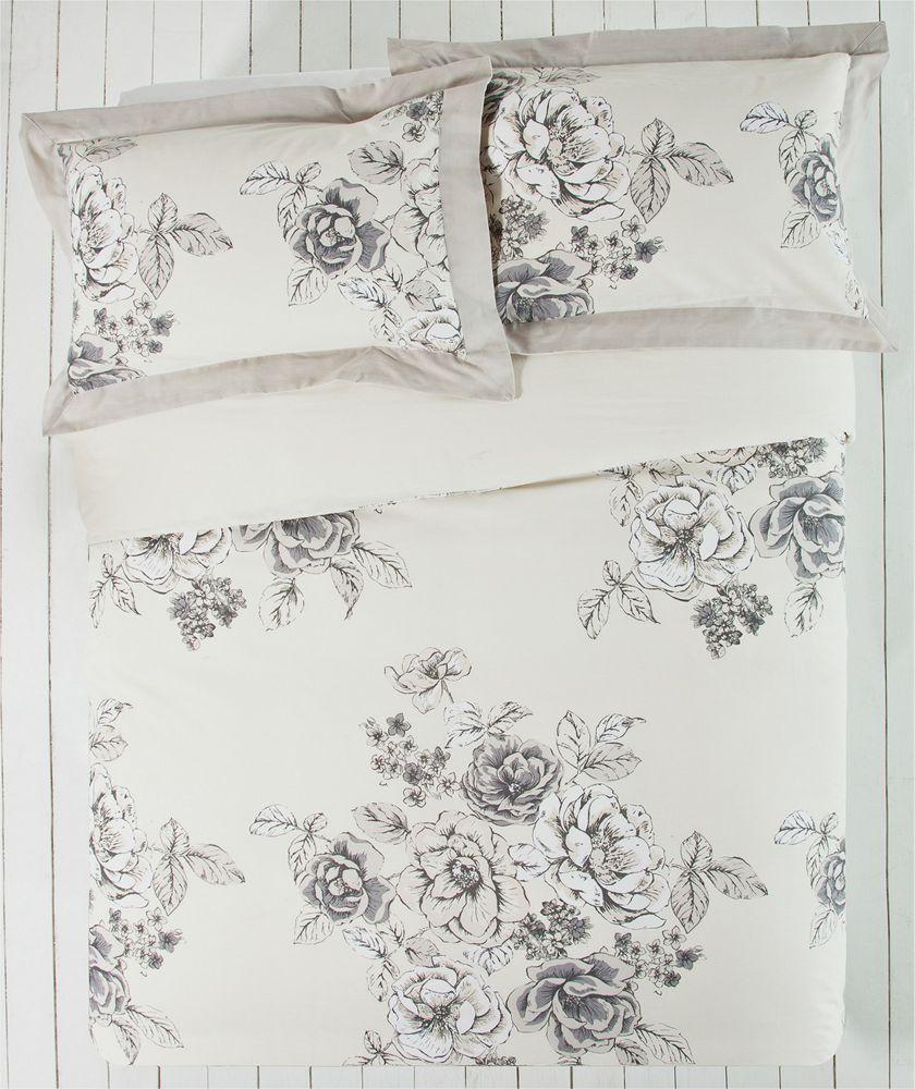 Collection Aimee Natural Fl Bedding Set Kingsize At Argos Co Uk