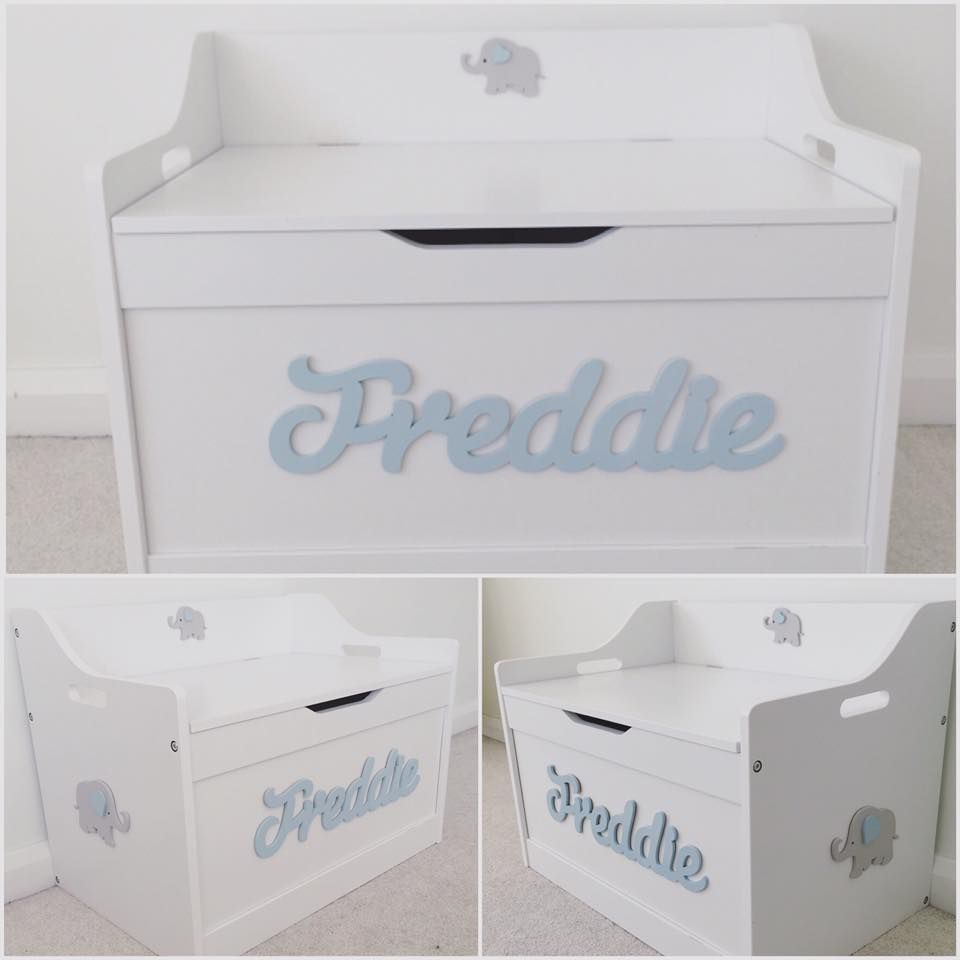 Personalised White Toy Box Love Unique Personal Boys Toy Box Personalised Toy Box White Toy Box