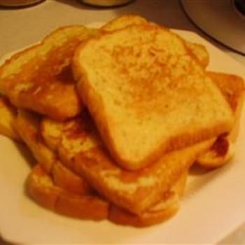 Eggnog French Toast...will have to try this at Christmas.