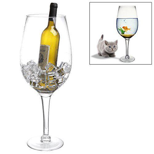 Giant Wine Glass Ice Bucket | Wine accessories | Pinterest