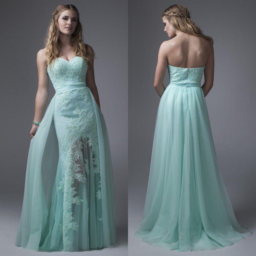 Aliexpress.com: Comprar Menta verde falda de baile vestidos 2016 ...