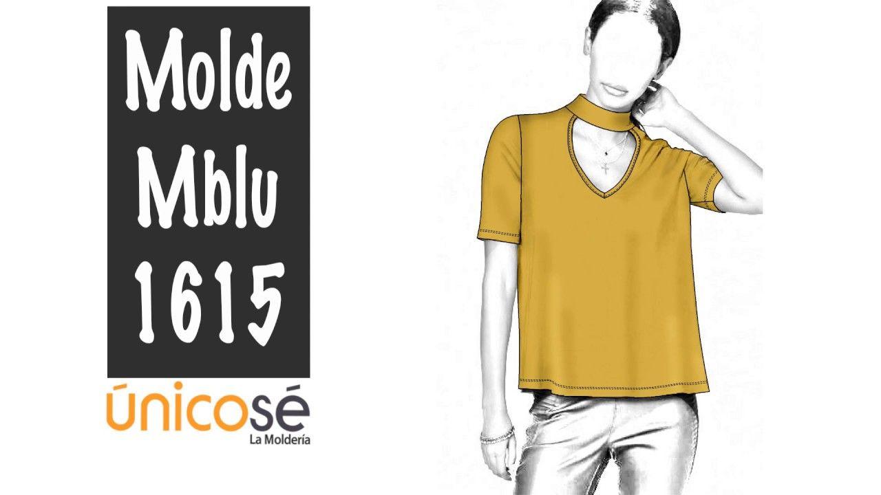 DIY Costura patrón Blusa cuello Choker. | Confección ropa femenina ...