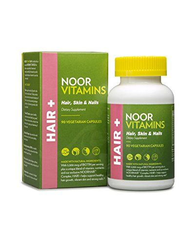 Noorvitamins Hair Skin Nails Vitamin Supplement With Biotin Zinc