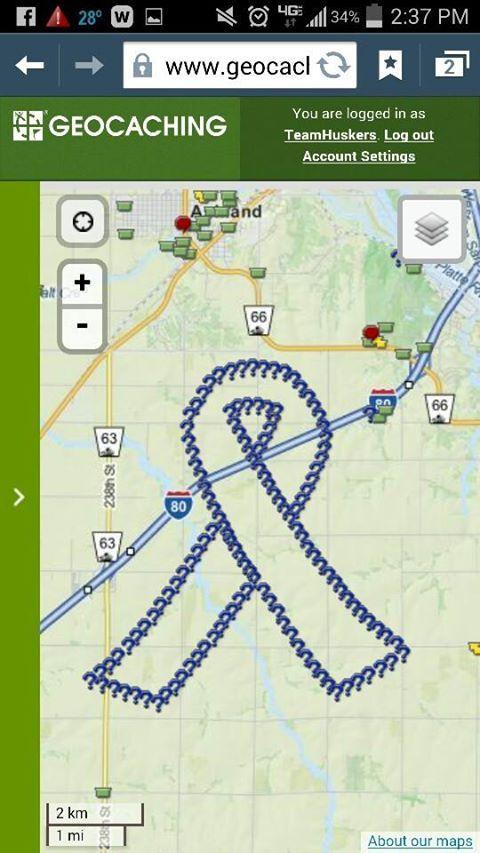 Near Ashland Nebraska And Geocoinfest 2015 Is That Red Dot Just