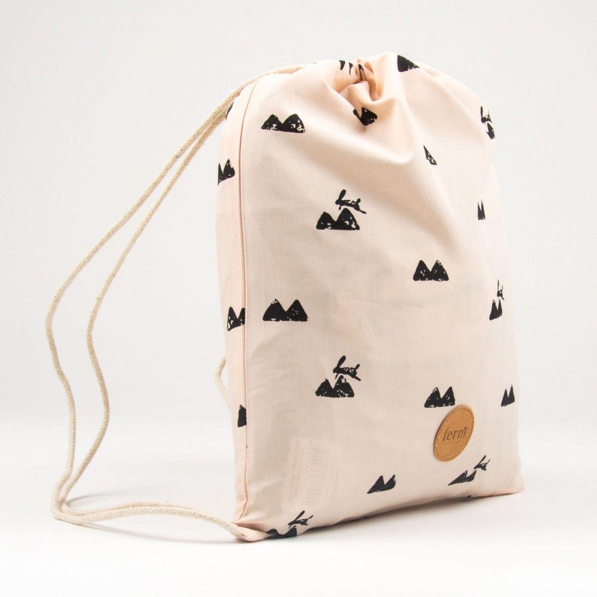 be7e0c3b0fd38b ferm LIVING kids Rose Gym Bag with Rabbit Print | * Gift Ideas under ...