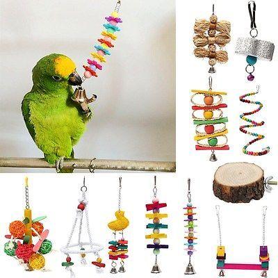 Pet Bird Parrot Swing Cage Ladder Toy Chew Bites for Parakeet Cockatiel Conure