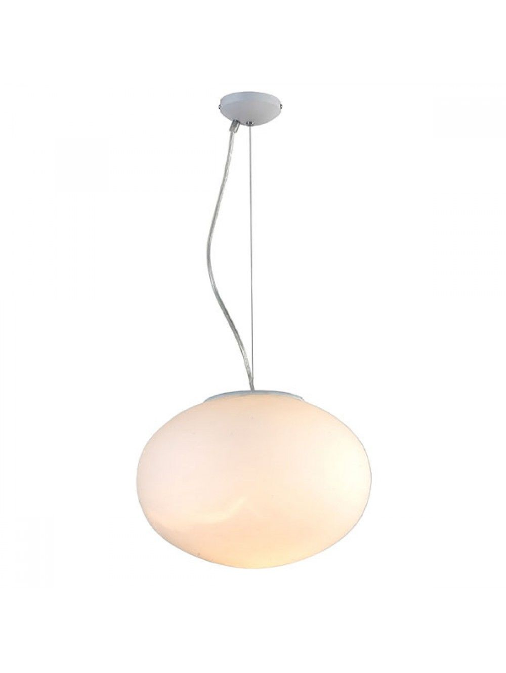 Glass Pendant Light In Frosted Globe Design