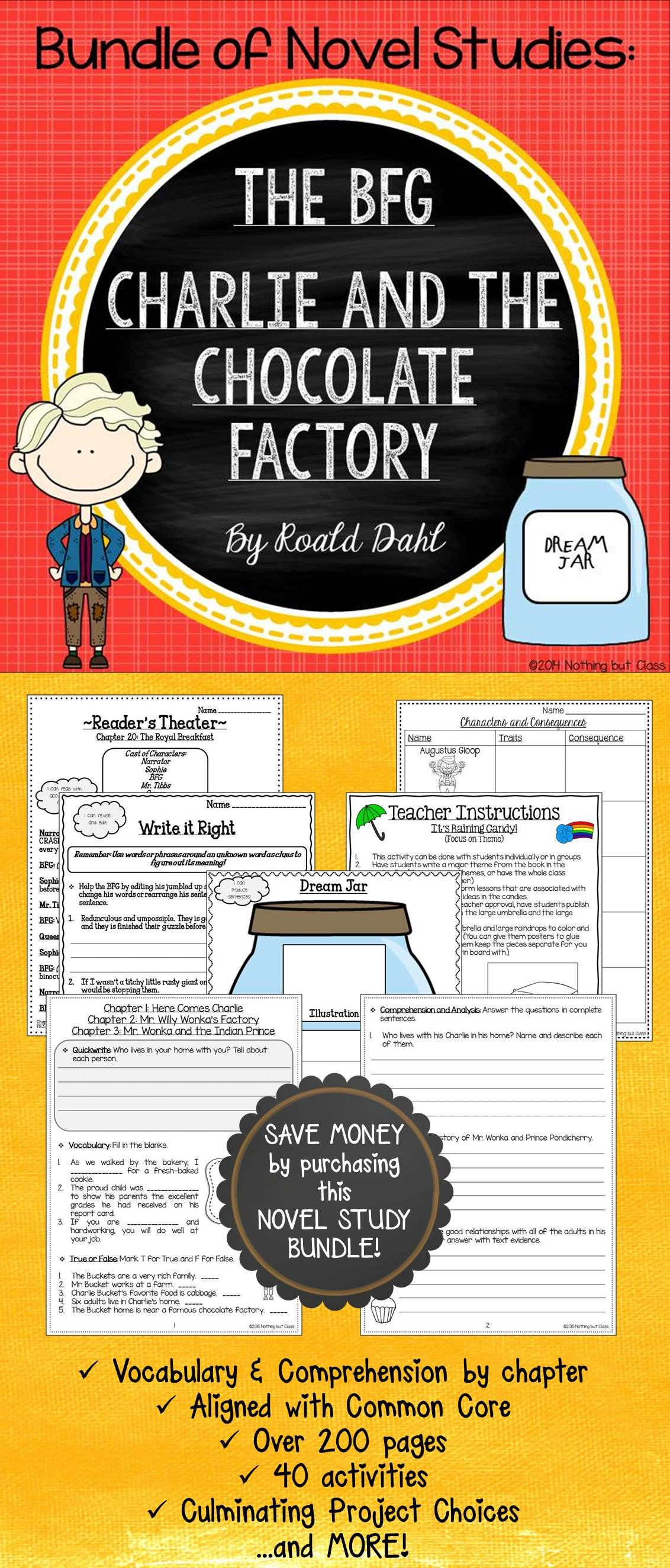 The Bfg And Charlie And The Chocolate Factory Novel Study