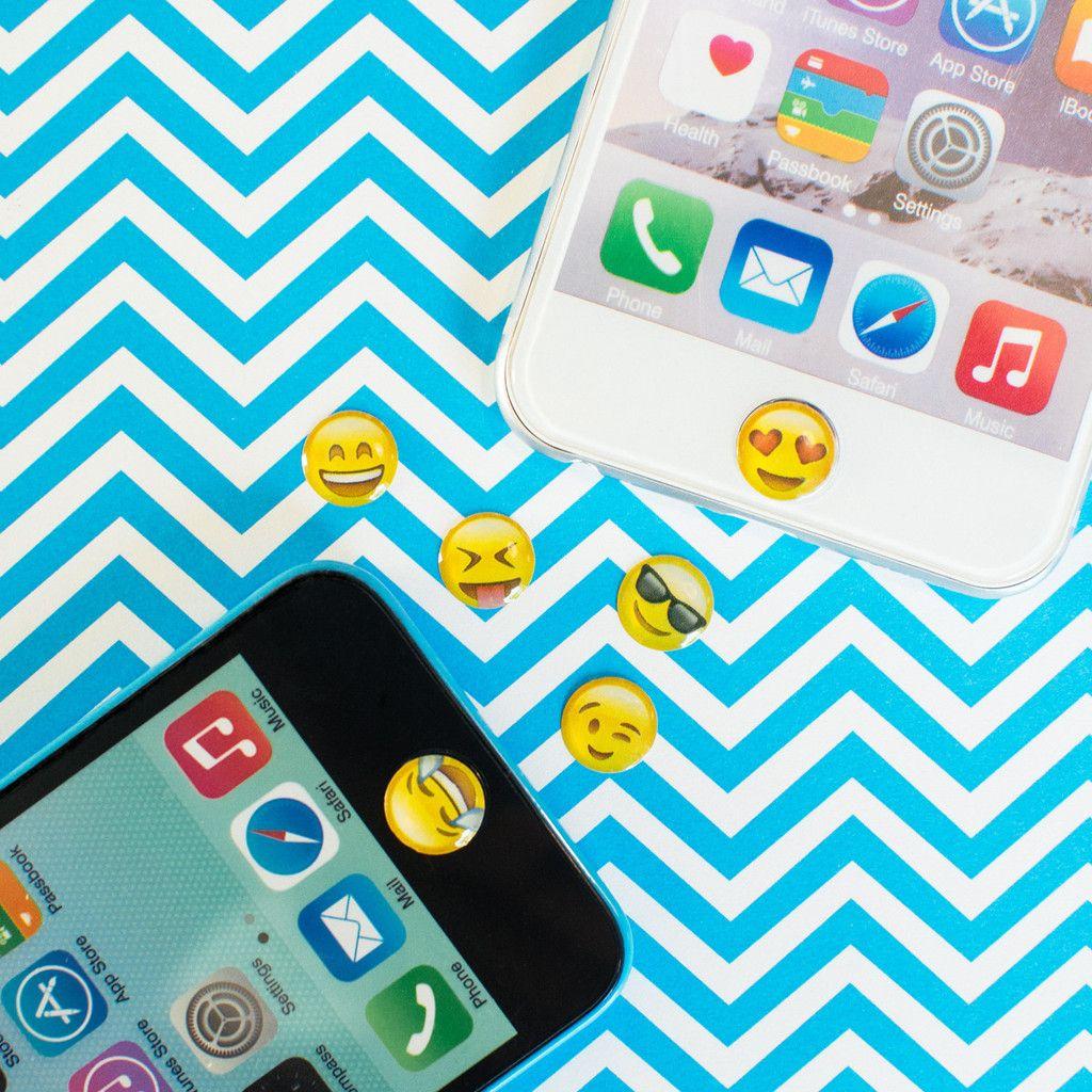 Emoji Home Button Stickers Iphone button stickers, Cute