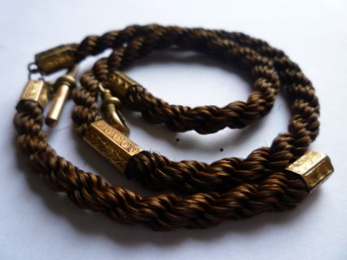 Mourning Jewelry Georgian Or Early Victorian Watch Chain Made Of Human Hair Inevitably Youll Find Most Jewelry Made Of Human Hair Ised Mourning