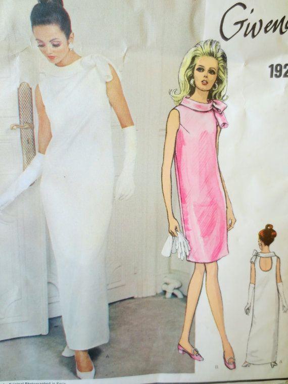 Vintage Vogue 1921 Sewing Pattern, 1960s Dress Pattern, Givenchy ...