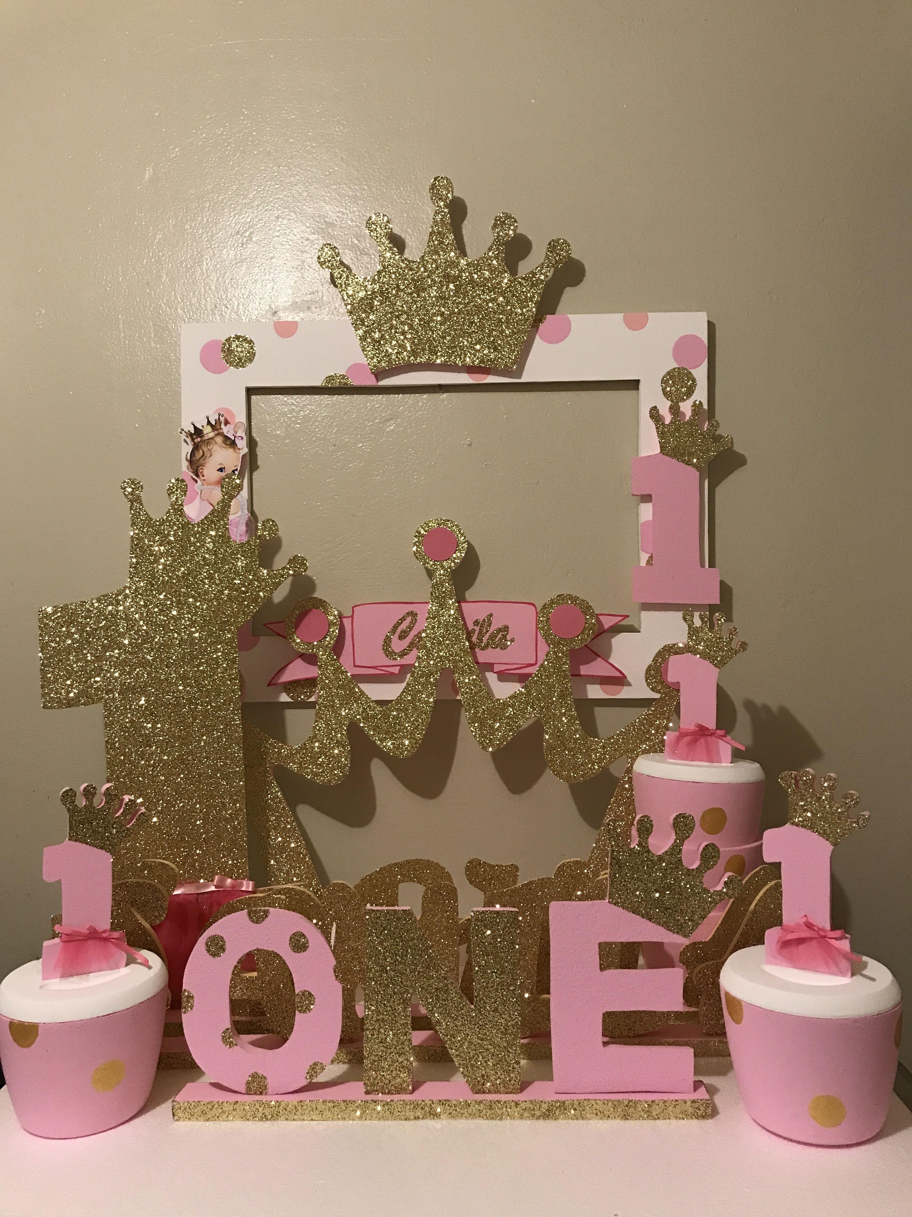 Princess crown decoration decoraci n in 2019 fiesta de - Fiestas de cumpleanos de princesas ...