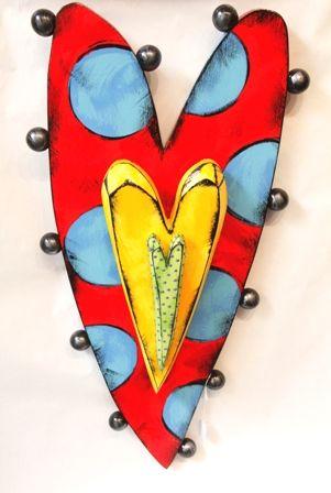 Triple Heart (C61) - wall piece