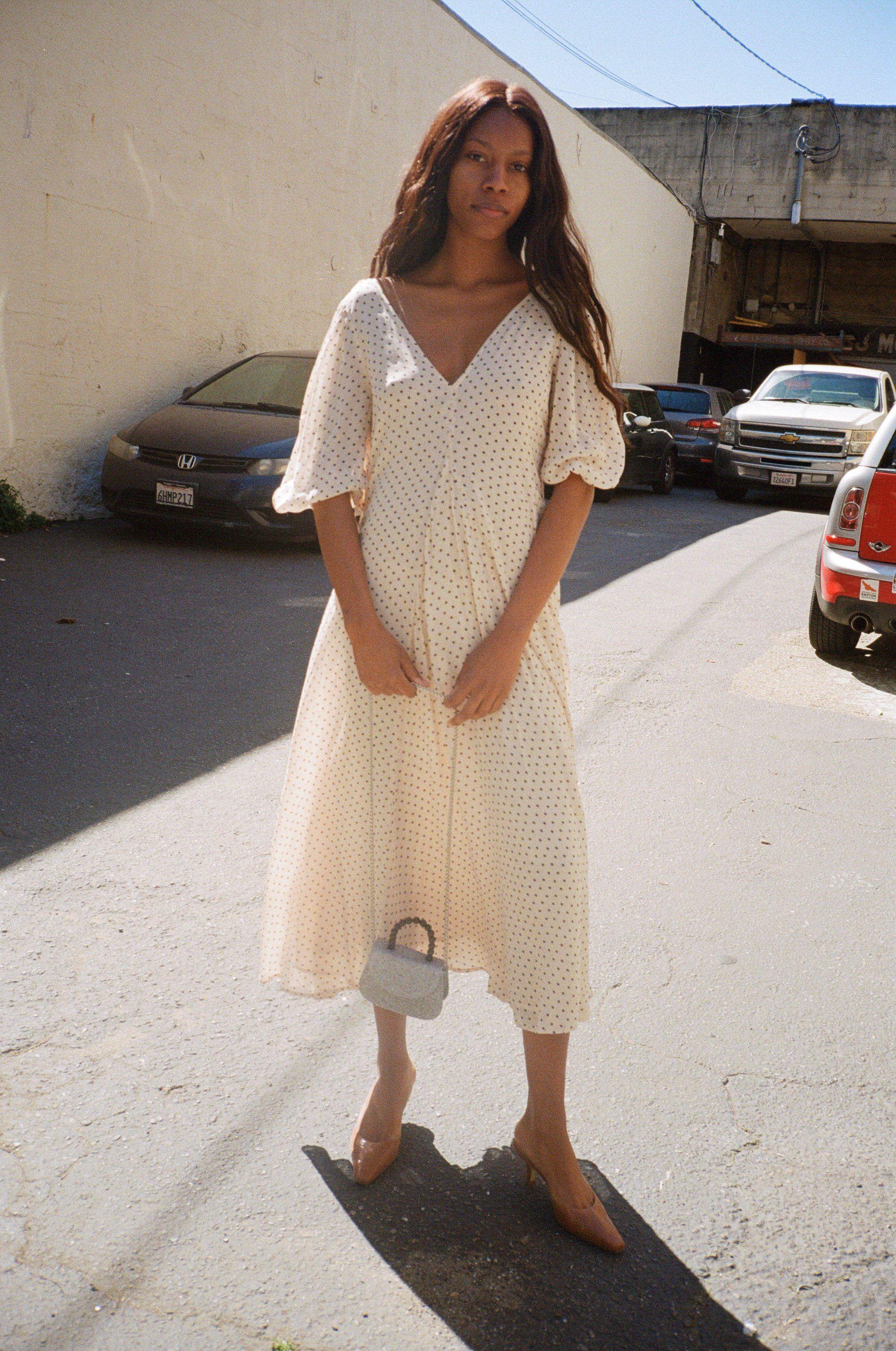 Elm Georgette Dress Tapioca   Fashion, Minimal fashion, Style