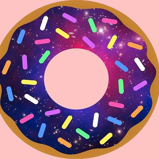 Donut galaxy. Yummy donuts outdoor decor