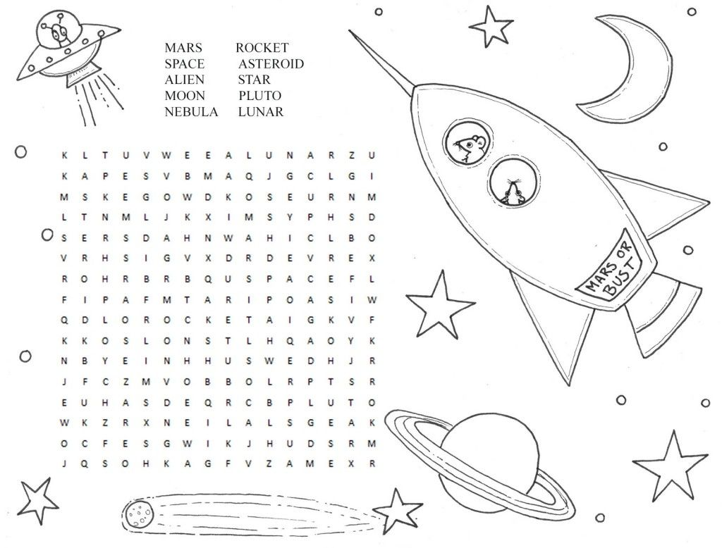Kids Word Search Puzzle