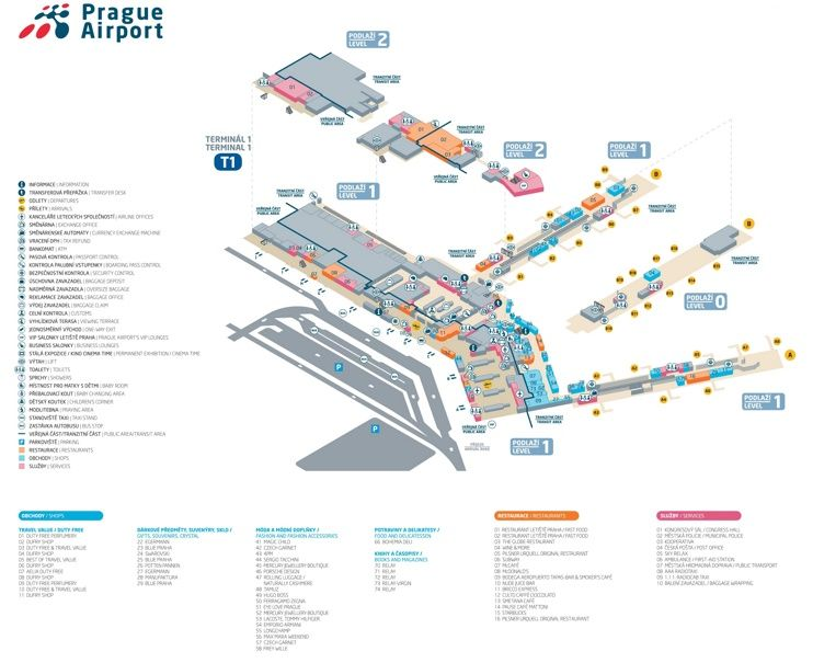 Prague airport terminal 1 map Maps Pinterest Prague airport