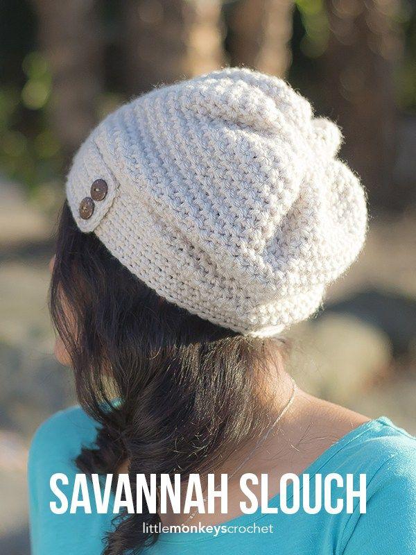 Savannah Slouch & Infinity Scarf Crochet Pattern Set | Free infinity ...