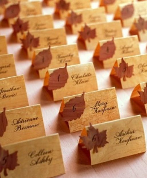 Place cards / seating