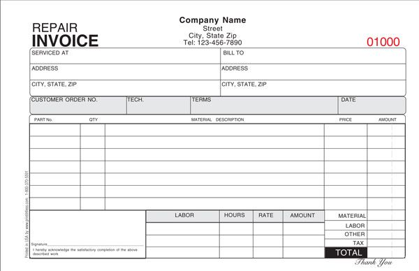 hvac service work order form template