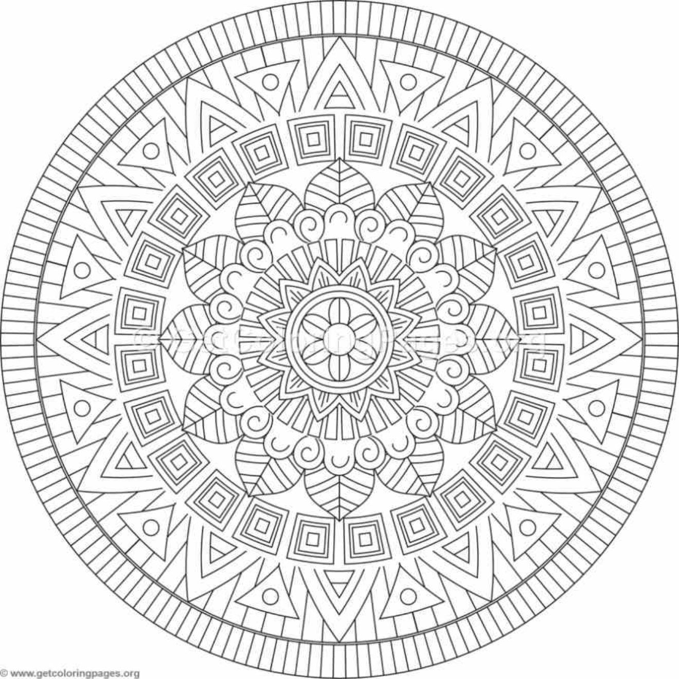 Tribal Mandala Coloring Pages 136 Getcoloringpages Org Mandala Coloring Pages Geometric Coloring Pages Mandala Coloring
